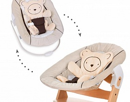Бебешки шезлонг Alpha bouncer 2 in 1 Hearts beige Hauck