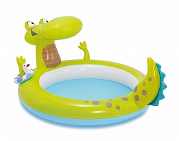 03621a7ed5c Детски надуваем басейн с пръскалка Крокодил INTEX Gator Spray Pool ...