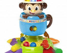 Bright Starts Детска играчка Hide 'n Spin Monkey