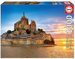 Пъзел EDUCA  MONT SAINT MICHEL, FRANCE 1000ч 17665