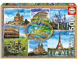 Пъзел EDUCA SEVEN WONDERS OF EUROPE 1500ч 17667