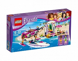 LEGO Friends 41316 - Транспортьор за моторницата на Andrea