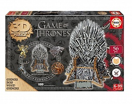 Дървен пъзел EDUCA 3D Game of thrones 56ч 17207