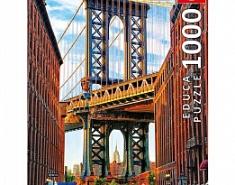Пъзел EDUCA Manhattan Bridge,NY 1000ч 17100