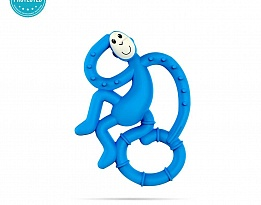 Matchstick Monkey Mini Monkey Teether чесалка с апликатор - Blue
