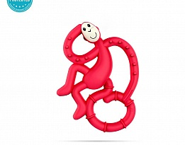 Matchstick Monkey Mini Monkey Teether чесалка с апликатор - Rubine