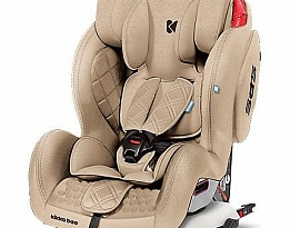 Детски стол за кола Kikkaboo Major, + Isofix, Бежов, 9 - 36 кг