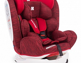 Детски стол за кола Kikka Boo 4 Fix Red Melange+Isofix, Червен, 0-36 кг