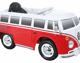 Акумулаторна кола Vw bus t2 , 6v, rc, red