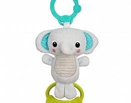 Bright Starts Бебешка играчка Take-Along Tug Tunes Elephant